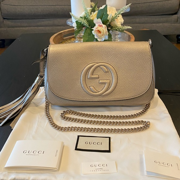 Gucci Handbags - Authentic Gucci Soho Chain Leather Crossbody Bag